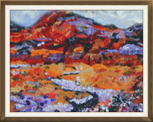 DESERT BEAUTY 8h x 10w acrylic on board $225